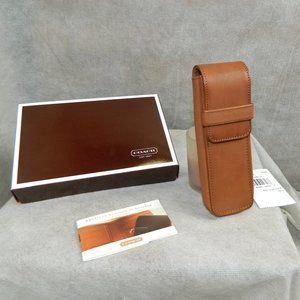 Coach #8572 Dual Pen Case British Tan Leather New